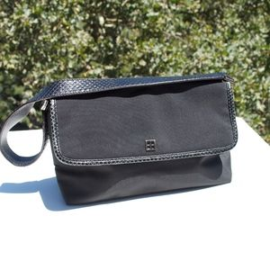 Kate Spade Black Snake Skin Trim Bag